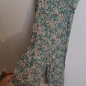 Nasty Gal Pants - Nasty gal palm print lightweight jumpsuit